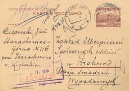 STARACHOWICE - 1938 ,  Druckvermerk:  X-1937  -  Karta Pocztowa  Nach Krakowice - Ganzsachen