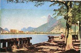RIO DE JANEIRO - BOTAFOGO E CORCOVADO. TRADIMEX DO BRASIL. POSTAL POSTALE CPA CIRCA 1930's NON CIRCULE- LILHU - Rio De Janeiro