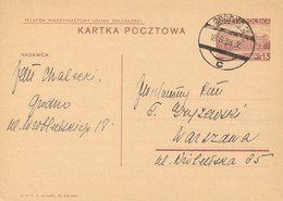GRODNO / Hrodna  -  Weissrussland  - 1938 ,  Druckvermerk:  X-1937  -  Karta Pocztowa  Nach Warszawa - Ganzsachen