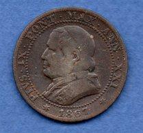 Vatican - 1 Soldo 1867  --  Km # 1372.2   état B+ - Vatican
