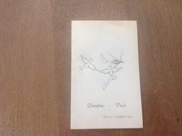Ath Menu 1953 - Cartes Postales