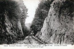 CPA - 1926 - LOVAGNY - GORGE DU FIER - VOIE DE CHEMIN DE FER DANS LA TRANCHEE DES GORGES - CL.23.43 - Frankreich