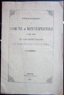 LIBRETTO COMUNE DI MONTESPERTOLI TIPOGRAFIA MARIANI FIRENZE ANNO 1867 - Vecchi Documenti