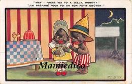 """1930 - 6 CP Illustrées Par F.G. LEWIN. Humour Anglais, Série """"Comique"""" AMOURS TENDRES DE NEGRILLONS"""" - 5 - 99 Cartes"""