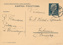 PSZCYNA  - 1939 ,  Druckvermerk:  X-1937  -  Karta Pocztowa  Nach Jastarnia - Ganzsachen