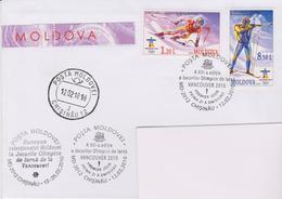 MOLDAVIE, FDC Jeux Olympiques D'Hiver 2010, Ski, Biathon - Moldavie