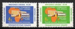 Nations Unies (New-York) - 1961 - Yvert N° 91 & 92 ** - New-York - Siège De L'ONU