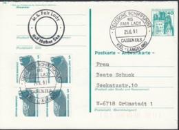 """Deutsche SCHIFFSPOST MS """"Fair Lady"""", Kiel-Langeland, Cassen Eils 25.6.1991 Auf PK P 123 F, Auf Hoher See - Schiffahrt"""
