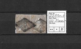 1854-1862 Helvetia (Ungezähnt) Strubel → Rautenentwertung Auf Seltenem 22F Paar ►SBK-22B1m.II◄ ►RAR◄ - 1854-1862 Helvetia (Non-dentelés)