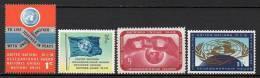 Nations Unies (New-York) - 1962 - Yvert N° 100 à 103 ** - New-York - Siège De L'ONU