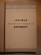 Lexique Des Principaux Termes Employés Dans Le Batiment 1961 SNCF Train Cheminot Chemin De Fer - Chemin De Fer & Tramway