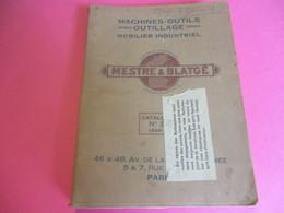 Machines -Outils-Outillages/Mobilier Industriel / Catalogue / Mestre & Blagè/PARIS/1925-26   CAT245 - Sciences & Technique