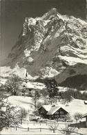 Grindelwald (Berne, Svizzera) Pfarrhaus Und Kirche Mit Wetterhorn - BE Berne
