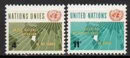 Nations Unies (New-York) - 1962 - Yvert N° 106 & 107 ** - New-York - Siège De L'ONU