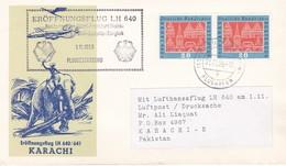 KARACHI, Ouverture De La Ligne Aérienne Hamburg-Dusseldorf-Frankfurt-Karachi-Calcutta-Bangkok, 1/11/59 - FDC & Commemorrativi