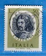 Italia °- 1974 - ARTISTI ITALIANI, BORROMINI.  Unif. 1249.  Vedi Descrizione. - 1946-.. République