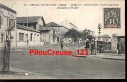 "SENEGAL - DAKAR - "" Boulevard Pinet-Leprade - Douane Et Poste - Animation "" - Sénégal"