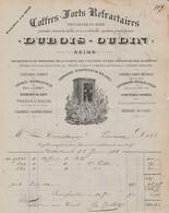 Reims Coffres-forts Réfractaires DUBOIS-OUDIN - 1903 - France