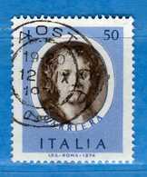 Italia °- 1974 - ARTISTI ITALIANI, CARRIERA.  Unif. 1250.  Vedi Descrizione. - 1946-.. République