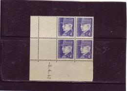 N° 522 - 4,00F PETAIN - 1° Tirage Du 11.3.42 Au 11.4.42 -8.4.1942 - - 1940-1949