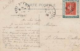 """France Porote Timbre Publicitaire """" Belle Jardiniere """" Sur Carte Postale Ecrite Et Datée De Tarbes 1908 - Publicités"""