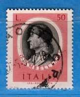 Italia °- 1974 - ARTISTI ITALIANI, GIAMBELLINO.  Unif. 1251.  Vedi Descrizione. - 1946-.. République