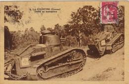 LA COURTINE Tanks En Manoeuvre - Guerre 1914-18