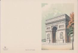 Carte Lithographiée (Barret/Dayez) Vers 1960 - PARIS - L'ARC DE TRIOMPHE - Arc De Triomphe