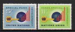 Nations Unies (New-York) - 1965 - Yvert N° 133 & 134 ** - New-York - Siège De L'ONU