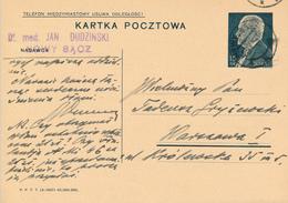 NOWY SACZ -  1938 ,  Druckvermerk:  X-1937  -  Karta Pocztowa  Nach Warszawa - Ganzsachen