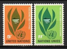Nations Unies (New-York) - 1965 - Yvert N° 135 & 136 ** - New-York - Siège De L'ONU