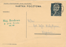 SRODA -  1939 ,  Druckvermerk:  VI-1938  -  Karta Pocztowa  Nach Wagrowice - Ganzsachen