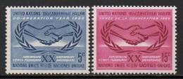 Nations Unies (New-York) - 1965 - Yvert N° 139 & 140 ** - New-York - Siège De L'ONU