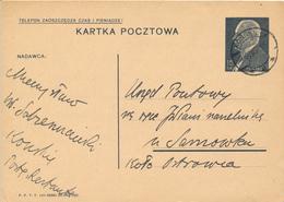 KONSKIE -  1939 ,  Druckvermerk:  VI-1938  -  Karta Pocztowa  Nach Ostrowie - Ganzsachen