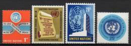 Nations Unies (New-York) - 1965 - Yvert N° 141 à 144 ** - New-York - Siège De L'ONU