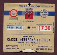 """DIJON (21) : """" DISQUE DE STATIONNEMENT - CAISSE D'EPARGNE """" - Cars"""