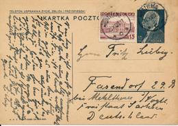 MIEZYCHOW -  1938 ,  Druckvermerk:  VI-1938  -  Karta Pocztowa  Nach Fasendorf / DE - Ganzsachen