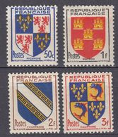 FRANCE - 1953 - Serie Completa Formata Da 4 Valori Nuovi MNH: Yvert 951/954. - 1941-66 Stemmi E Stendardi