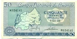 50 FRANCS 1969 - Rwanda