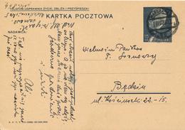 WARSZAWA -  1939 ,  Druckvermerk:  VI-1938  -  Karta Pocztowa  Nach Bedzin - Ganzsachen
