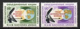 Nations Unies (New-York) - 1968 - Yvert N° 182 & 183 ** - New-York - Siège De L'ONU