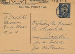 WARSZAWA -  1939 ,  Druckvermerk:  VI-1938  -  Karta Pocztowa  Nach Grodki - Ganzsachen