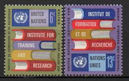 Nations Unies (New-York) - 1969 - Yvert N° 186 & 187 ** - New-York - Siège De L'ONU