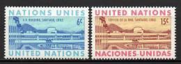 Nations Unies (New-York) - 1969 - Yvert N° 188 & 189 ** - New-York - Siège De L'ONU