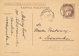 OSTROWIEC -  1939 ,  Druckvermerk:  X-1938  -  Karta Pocztowa  Nach Sarnow - Ganzsachen