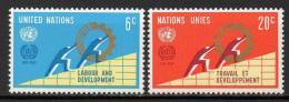 Nations Unies (New-York) - 1969 - Yvert N° 193 & 194 ** - New-York - Siège De L'ONU