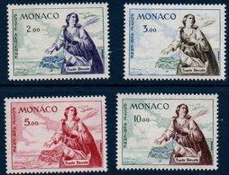 MONACO 1960-61  Sainte Dévote   N°YT  PA 73-75-77-78 ** MNH - Poste Aérienne