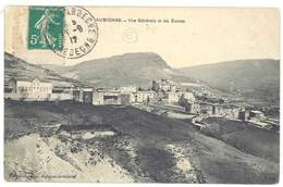 Cpa Ardèche - Aubignas - Vue Générale Et Les Ecoles - Frankreich