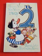 """FANTAISIES  -  MABEL LUCIE ATTWELL  Illustrateur  - """" Happy You - Now You're Two ! """" - Attwell, M. L."""