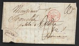 1840 LAC - LONDRES A PETITE VILLETTE - ANGL. 3 CALAIS - Verso C.à.d Depart LONDON 2 JUL Et Arrivée - Grossbritannien